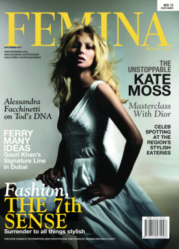 INTERVIEW LINA BRAX IN FEMINA MAGAZINE DUBAI MIDDLE EAST