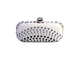 minaudiere dots with swarovski